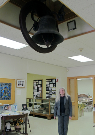 The bell in the lobby of the Riley Co. Historical Museum is from the steamboat Hartford.