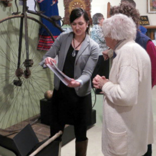 Alana Parker at Museum Open House for Centennial Exhibit