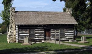 riley county historical society pioneer log cabin